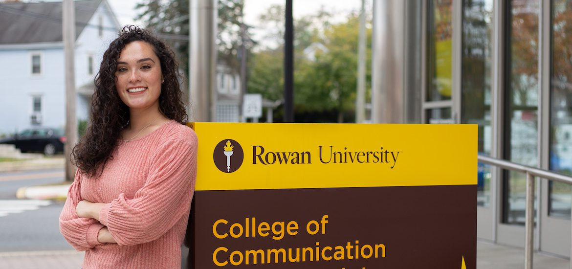 Ciara Sikking stands in front of Rowan Art Gallery at 301 High St.