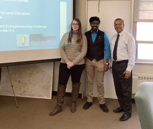 Rowan Ed.D. student Ketan Gandhi meets with students as CFO of Sussex County Community College