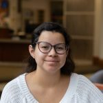 Mariana Cardenas, a senior Psychology major at Rowan, pictured in the Chamberlain Student Center