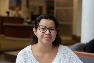 Mariana Cardenas, a senior Psychology major at Rowan, pictured in the Chamberlain Student Center