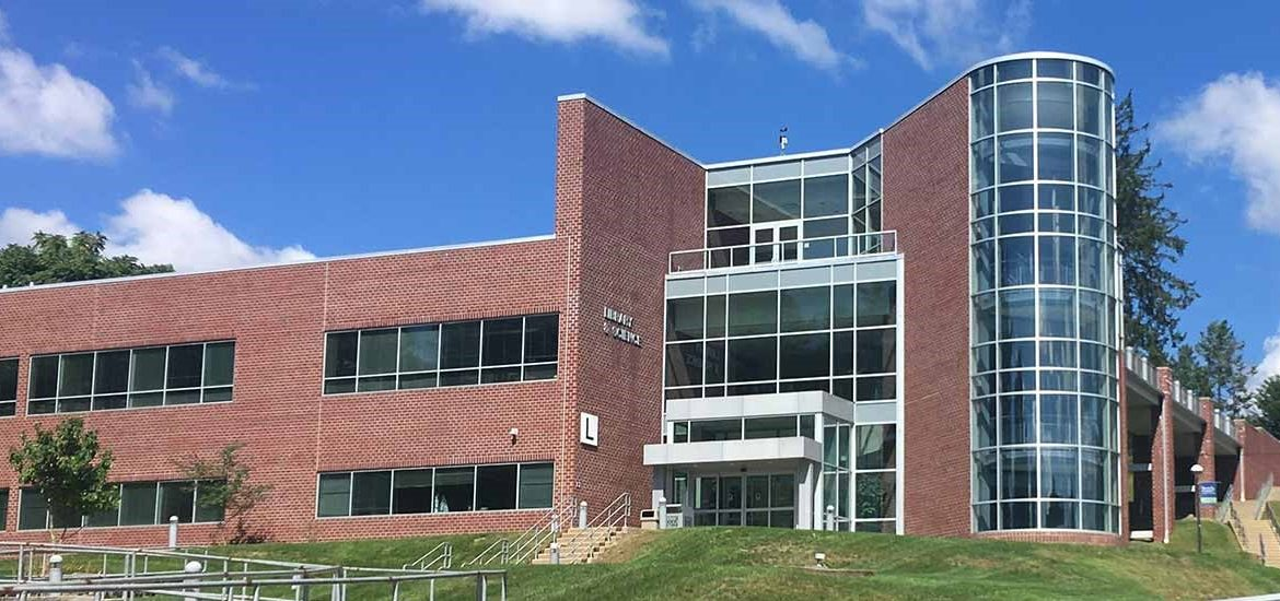 Exterior shot of Sussex County Community College, where Rowan Ed.D. student Ketan Gandhi works