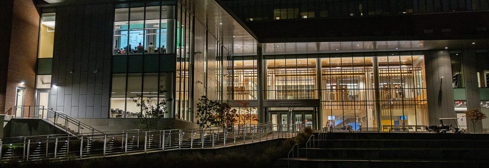 Exterior shot of the Rohrer College of Business