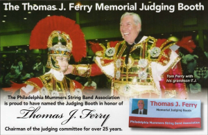 The Thomas J. Ferry Memorial Judging Booth honors TJ's late grandfather.