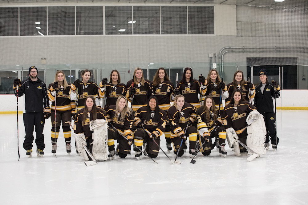 Group photo of the Women's Ice Hockey Team.