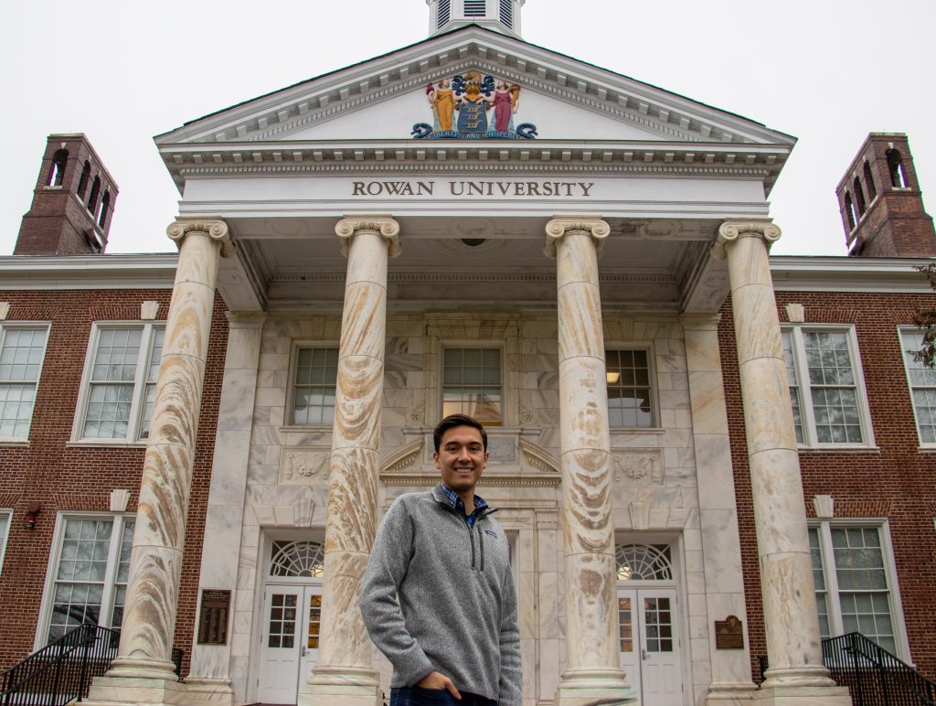 Anthony Raisley in front of Bunce Hall