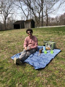 "Nicole's boyfriend at a ""social distance picnic."""