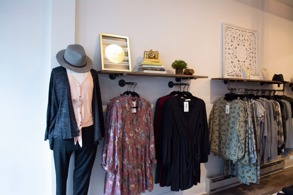 Interior shot of Maggie Paige Boutique