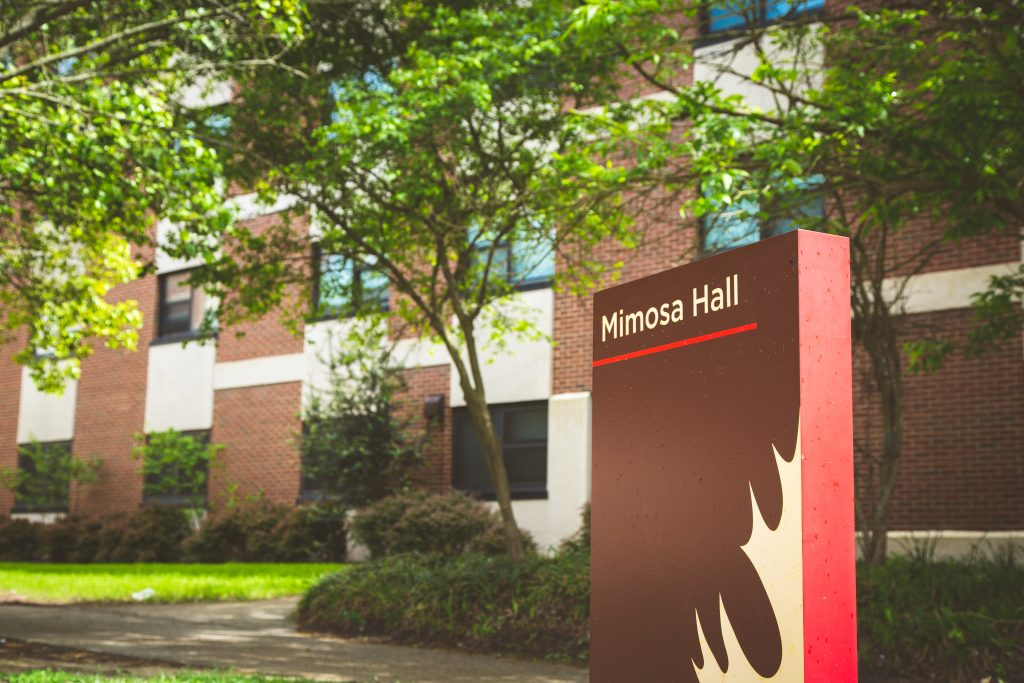 Exterior shot of Mimosa Hall