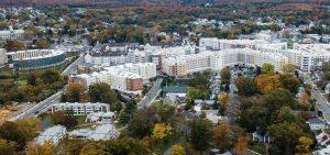 Drone view of Rowan's Glassboro campus