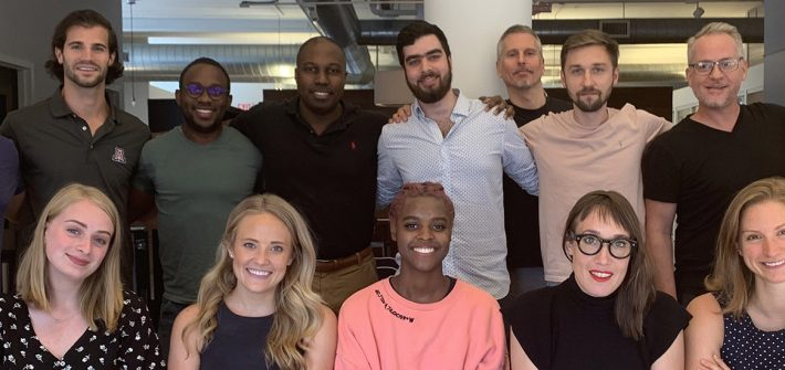 Nicole with employees and mentors at FitGrid, one of the organizations she interned for