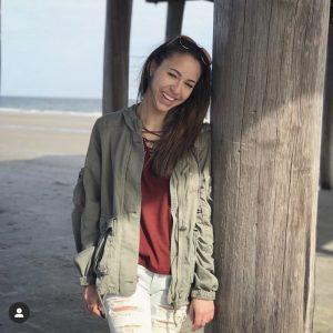 Photo of transfer student Vanessa Finnan on the beach