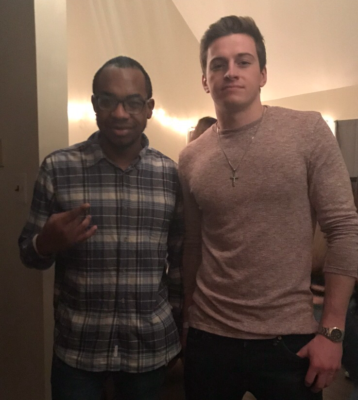 Daniel (right) with one of his close friends from Rowan