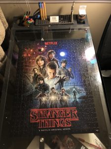 A completed puzzle for Stranger Things.