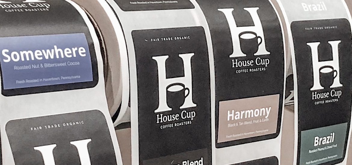 Labels from House Cup Coffee, Sarah Niles' father's business