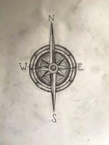 Compass sketch.