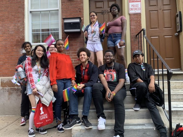 Reinaldo with the Queer People of Color club.