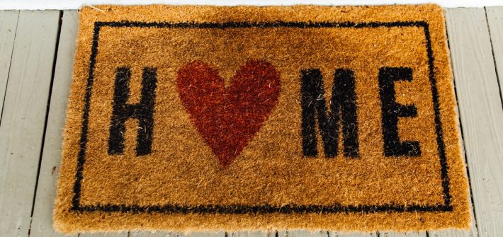 A welcome home mat to signify the importance of staying close to home