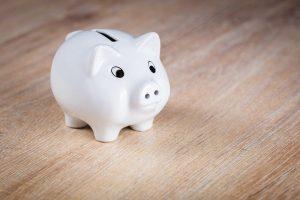 Piggy bank to represent saving money