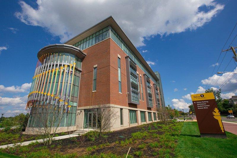 An exterior shot of Business Hall