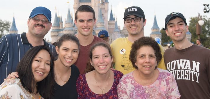 A family photo at Disney World.