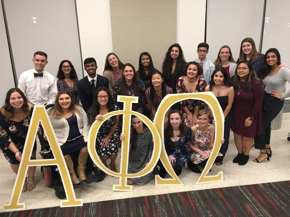 Group photo of the Alpha Phi Omega Fraternity.