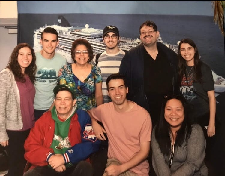 A group photo of Phil and his famiy.
