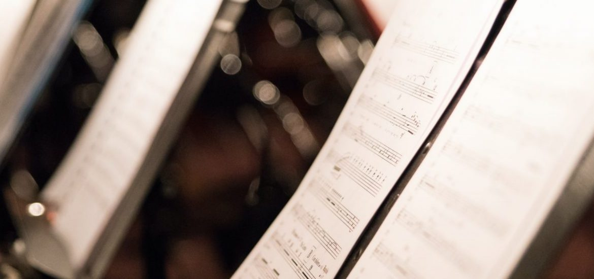 Stock image of sheet music