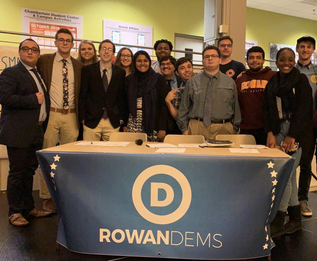 Group shot of Rowan Democrats