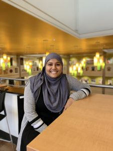Portrait of  Kazi Hafiza in the Chamberlain Student Center