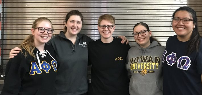 Biological sciences major Kimberly Zullo and friends