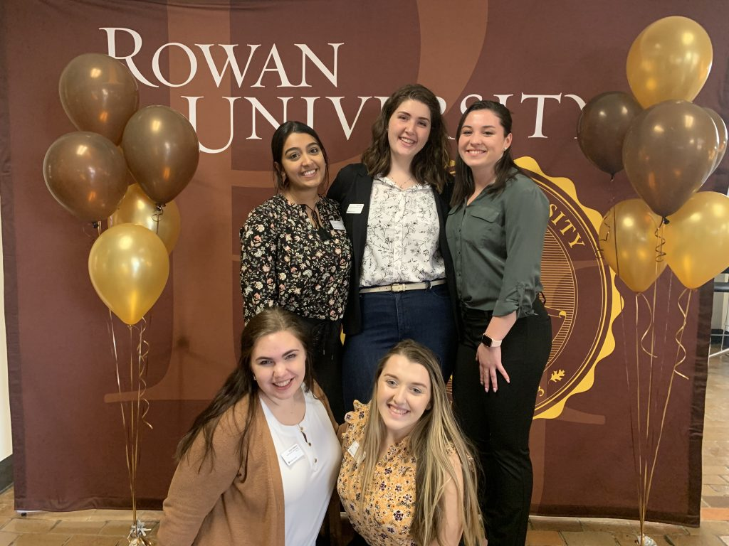 Biological sciences major Kimberly Zullo poses with Rowan University friends.