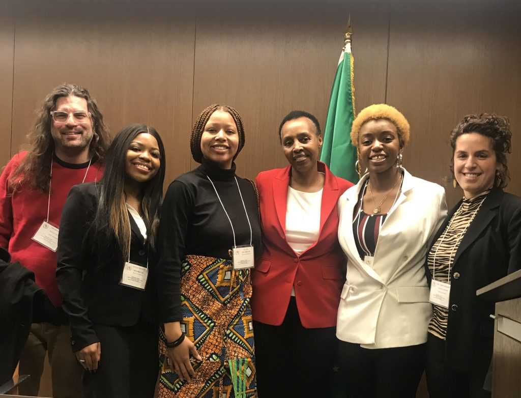 Summit in Washington D.C. for the Model African Union course meeting with Political Officer, Ms. Seraphine Manirambona from the African Union Mission.