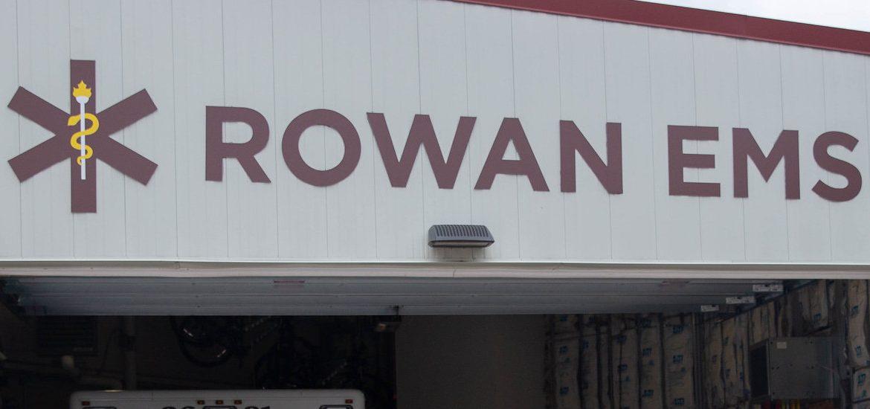 Exterior shot of Rowan EMS building