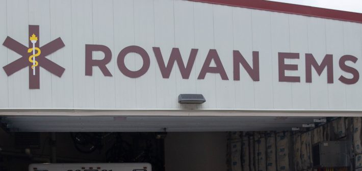 Exterior shot of Rowan EMS building
