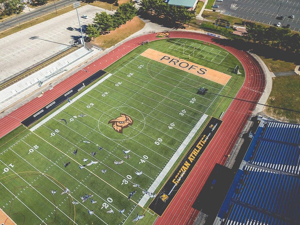 Drone shot of Richard Wacker Stadium