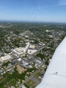 A picture of Rowan's campus taken from Jay's plane.