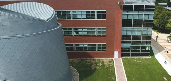 Drone shot of Science Hall