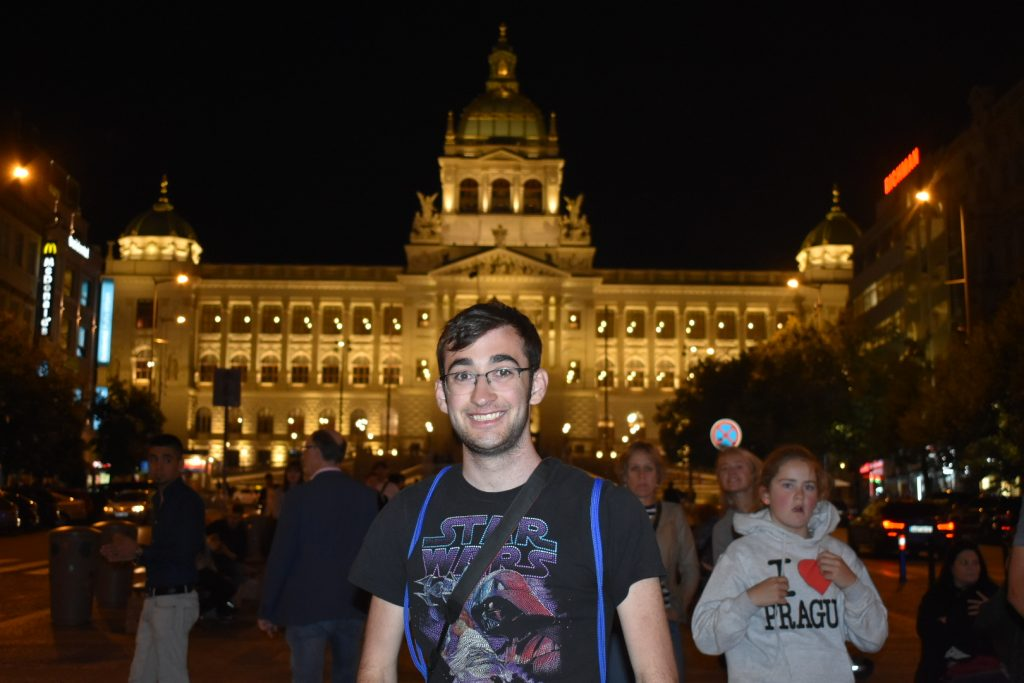 Alex in Prague in the RCHGS Study Abroad program in 2019.
