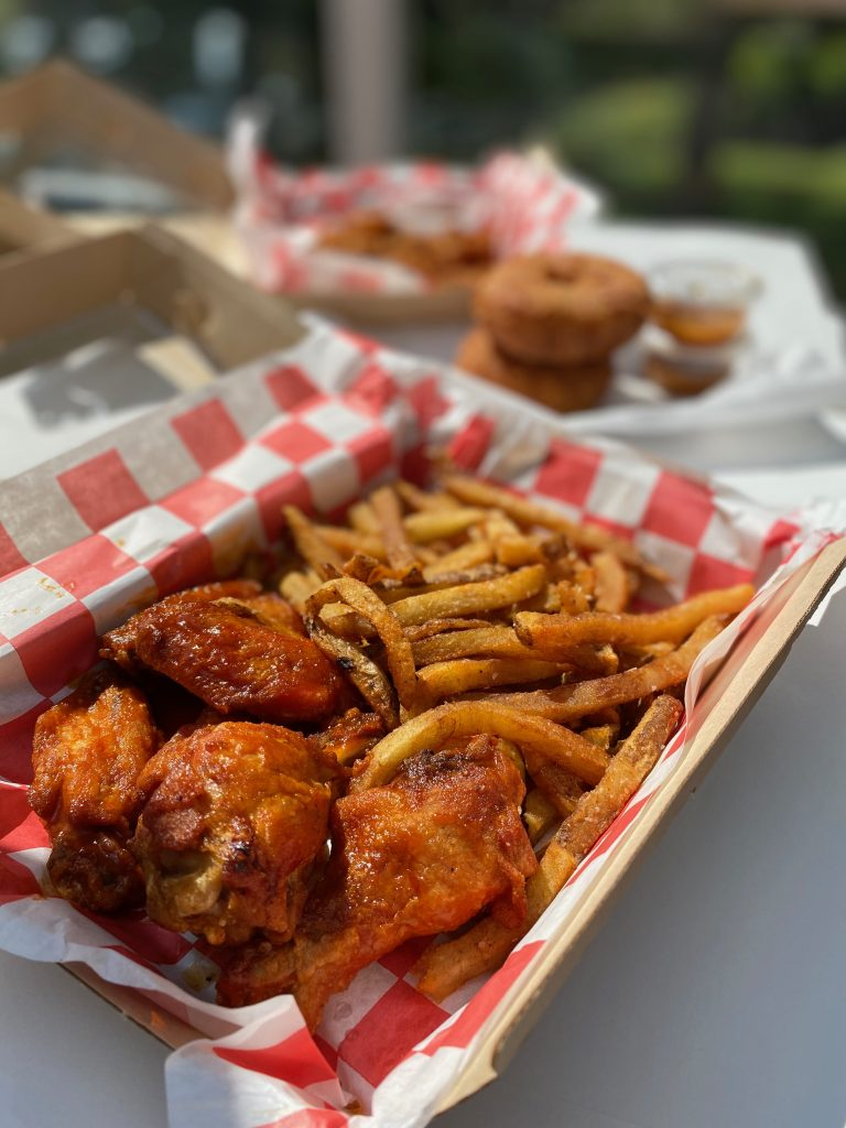 Fries and wings at The Wing Kitchen