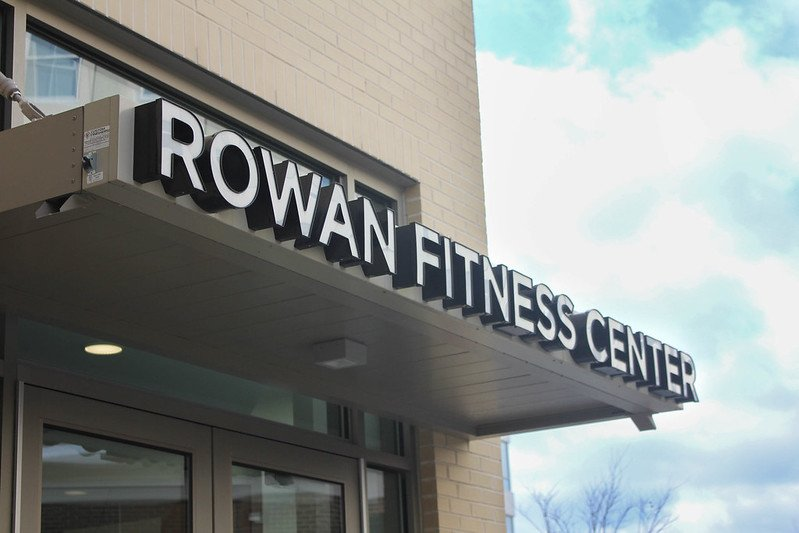 Exterior shot of Rowan Fitness Center.