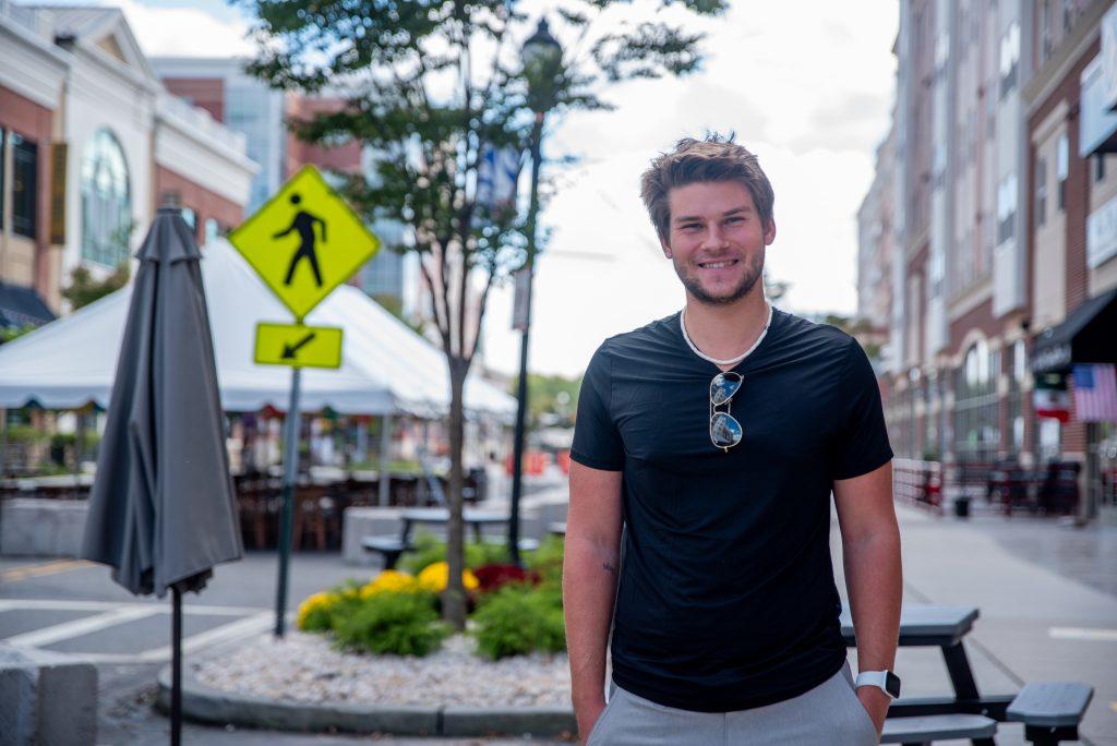 Dan standing on Rowan Boulevard.