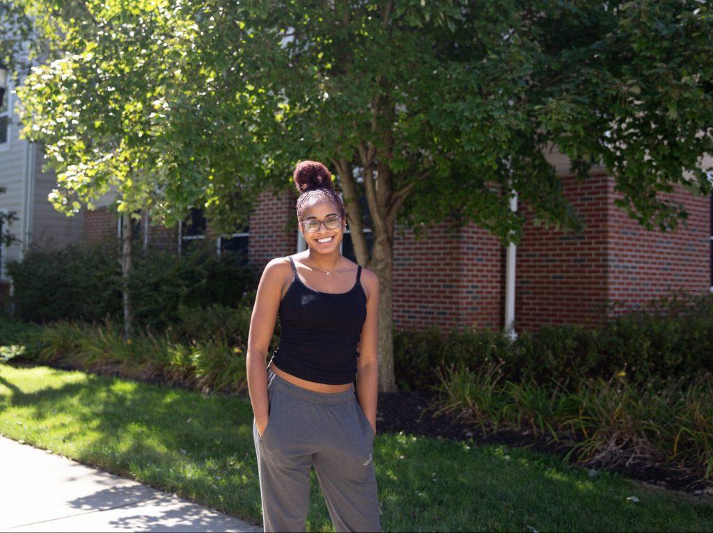 Jasmin Jones poses outside of RoBo.