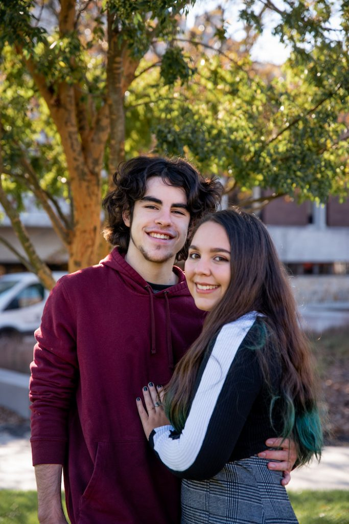 Helaina and her boyfriend holding each other.