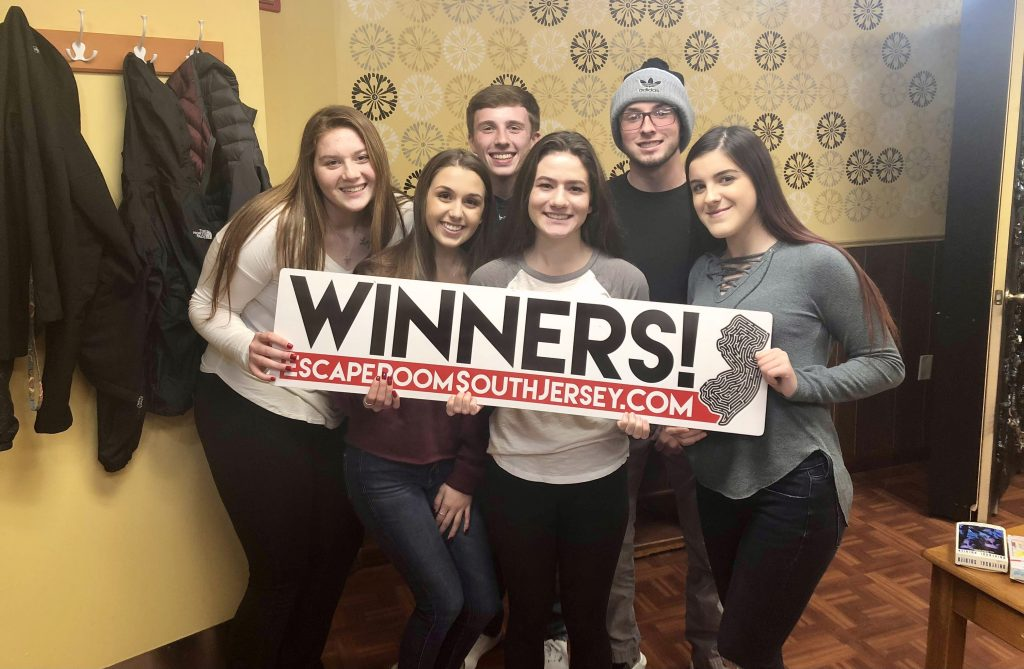 Loredonna and friends at escape room