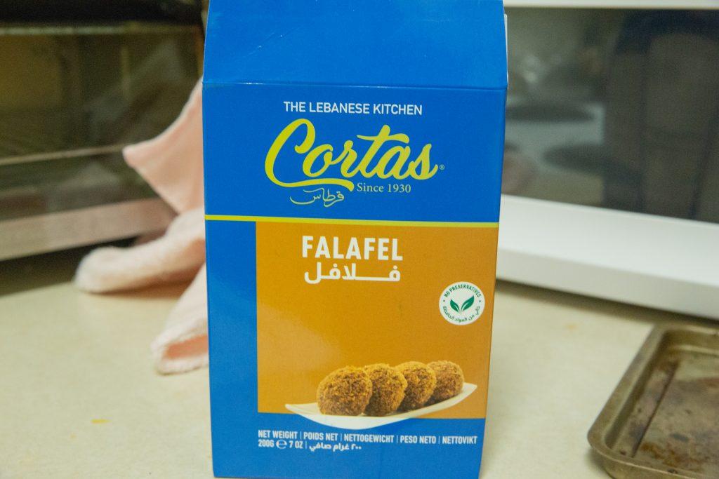 Box of falafel mix.