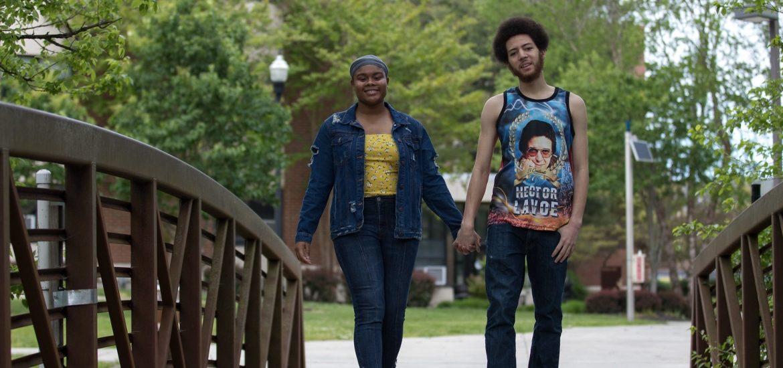 Jahnaya, the president of Queer People of Color, and Reinaldo, vice president of Queer People of Color.