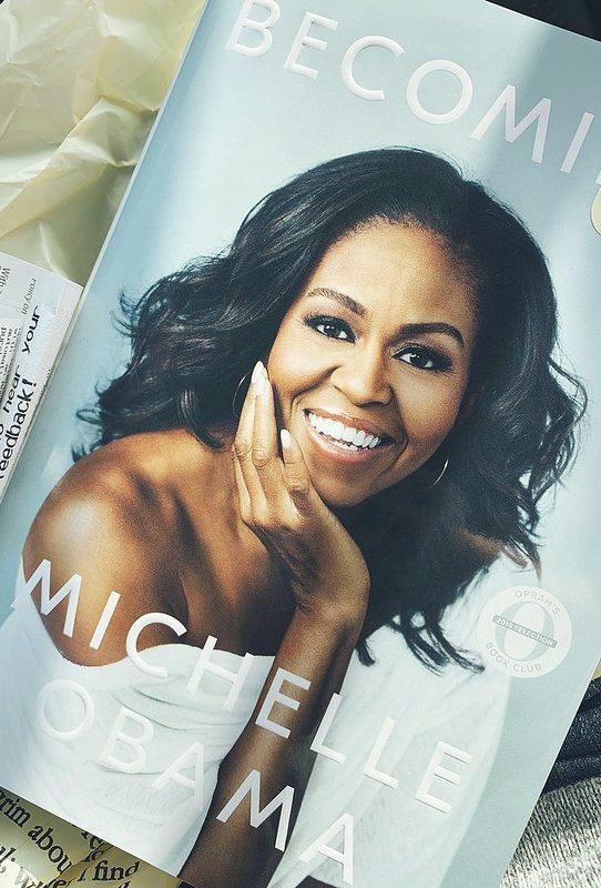 Hardcover copy of Michelle Obama book.
