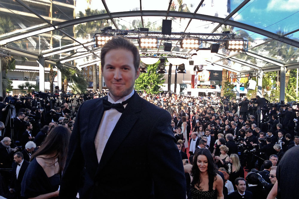 Ryan wears a tuxedo to the Cannes Film Festival.