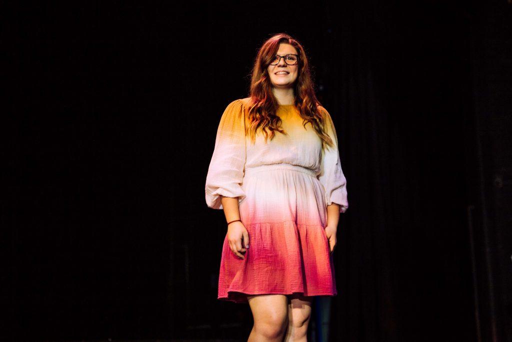 Julia on stage.