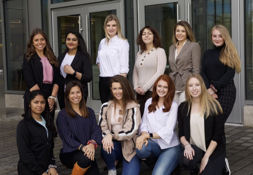 A group photo of some of the members of Women in Business.
